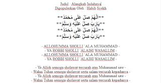 Teks Lirik Lagu Sholawat Qosidah Alangkah indahnya  Habib Syech - Lirik Alangkah Indahnya