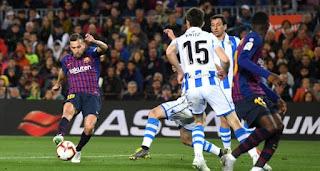 اقترب فريق برشلونة من اللقب بعد الفوز على ريال سوسيداد