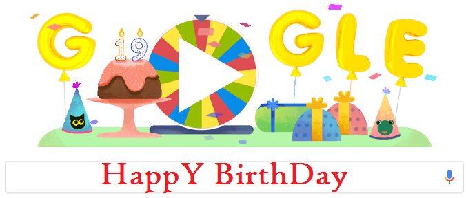 Google Celebrates its 19th Birthday With Doodle 19 Spin Games