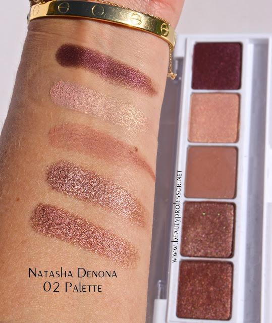 natasha denona eyeshadow swatches palette 02