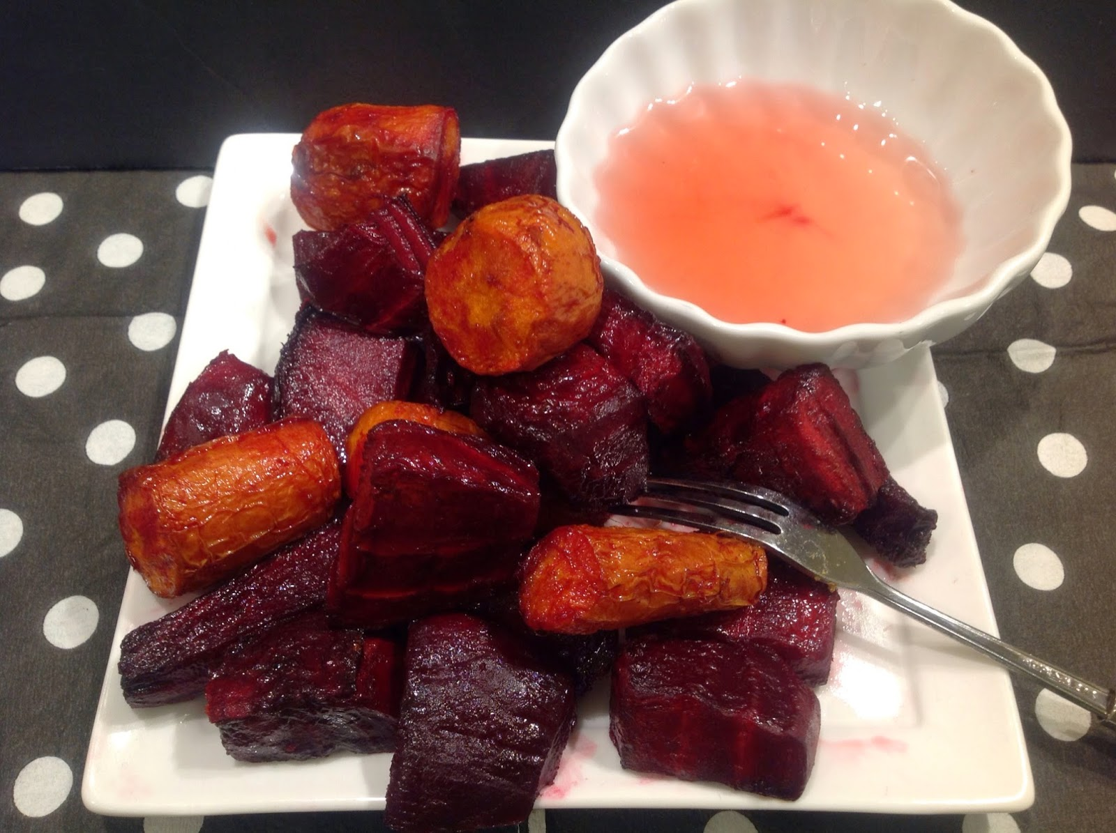 beets and carrots with dip