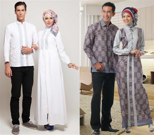 gaun pesta muslim couple terbaru 2016/2017
