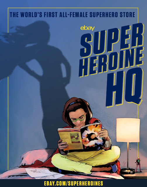 """eBay launches """"Superheroine HQ"""" – the world's first online shop dedicated to female superheroes offering rare and right now comics, collectibles and merchandise all in one place"""