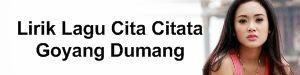 Lirik Lagu Cita Citata - Goyang Dumang