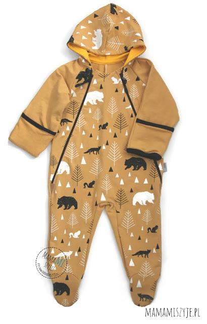 ubrania niemowlęce, kombinezon na zimę