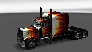 Flame skin for Peterbilt 389