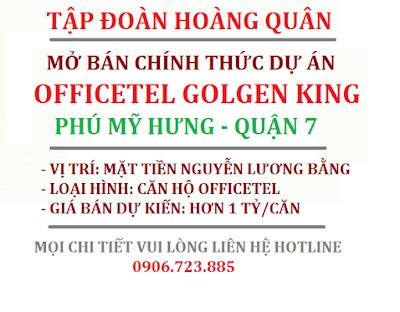 Bán căn hộ Officetel Golden King Quận 7