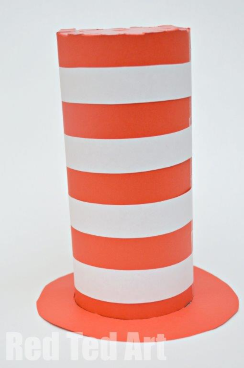 Dr Seuss Activities for Toddlers - Cat in the hat costume craft
