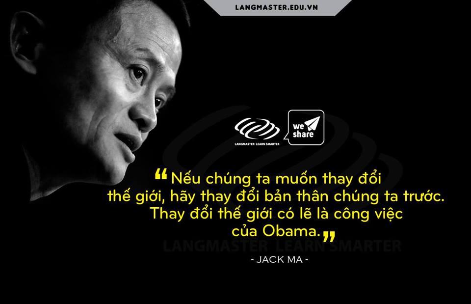 Câu nói hay của Jack Ma