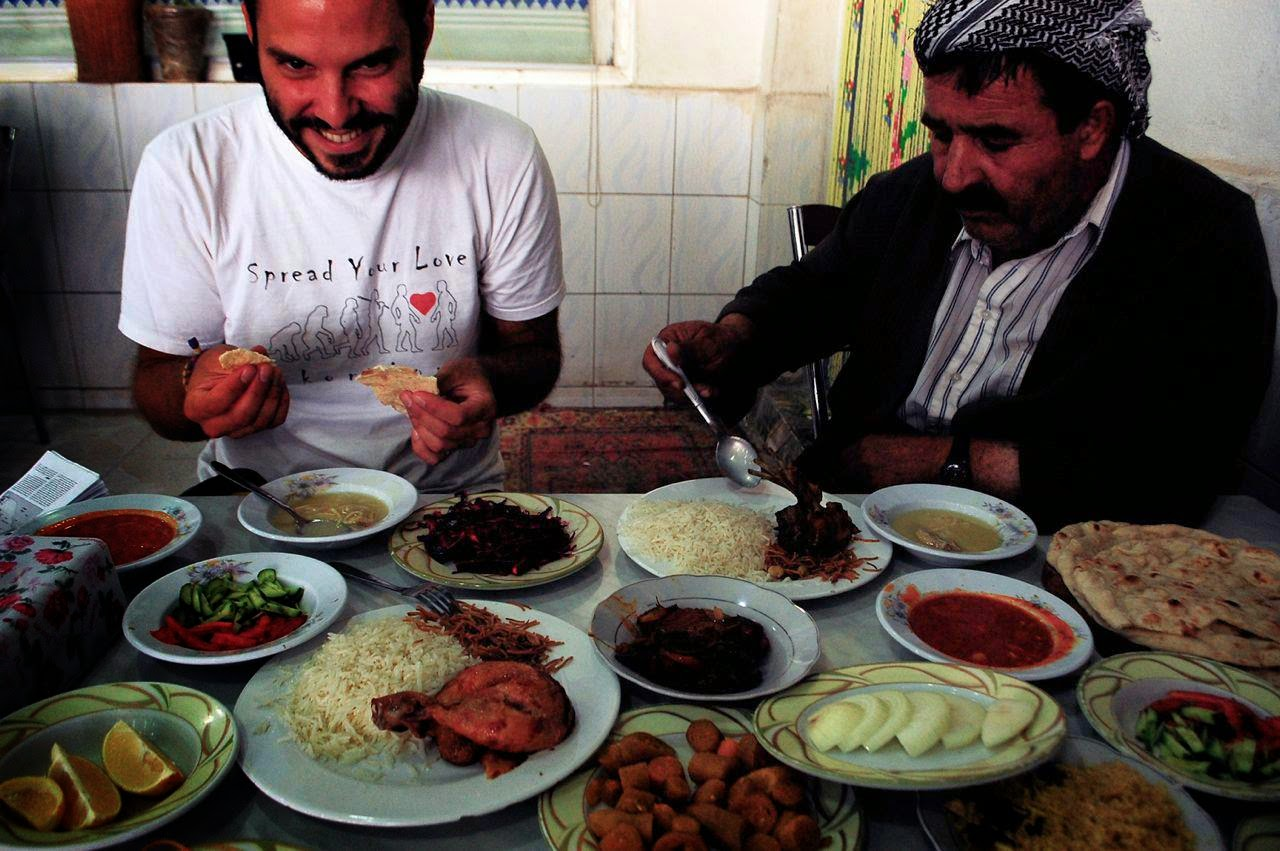 Chowing down in Kurdistan, a region of Iraq. - '1,000 Days of Summer': An Ex-Stock Broker Travels Around the World on $10 a Day