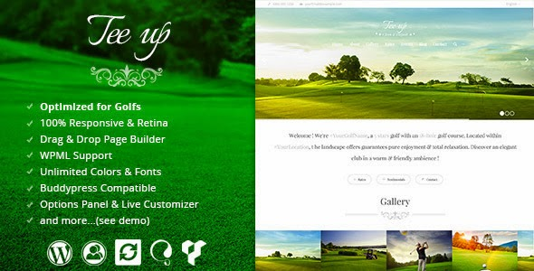 Golf Website Theme