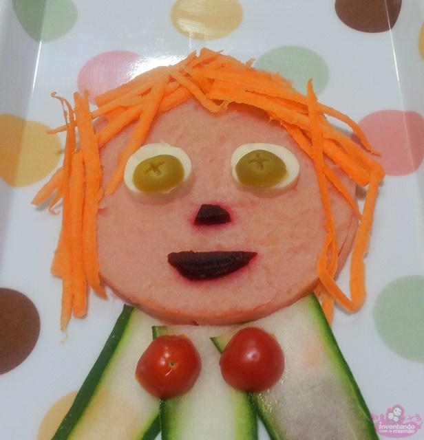 Comida divertida para as crianças com tema de Carnaval