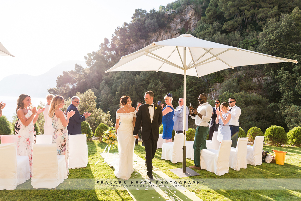 Amalfi coast wedding ceremony
