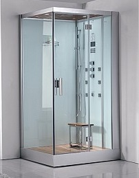 prefabricated corner steam shower unit