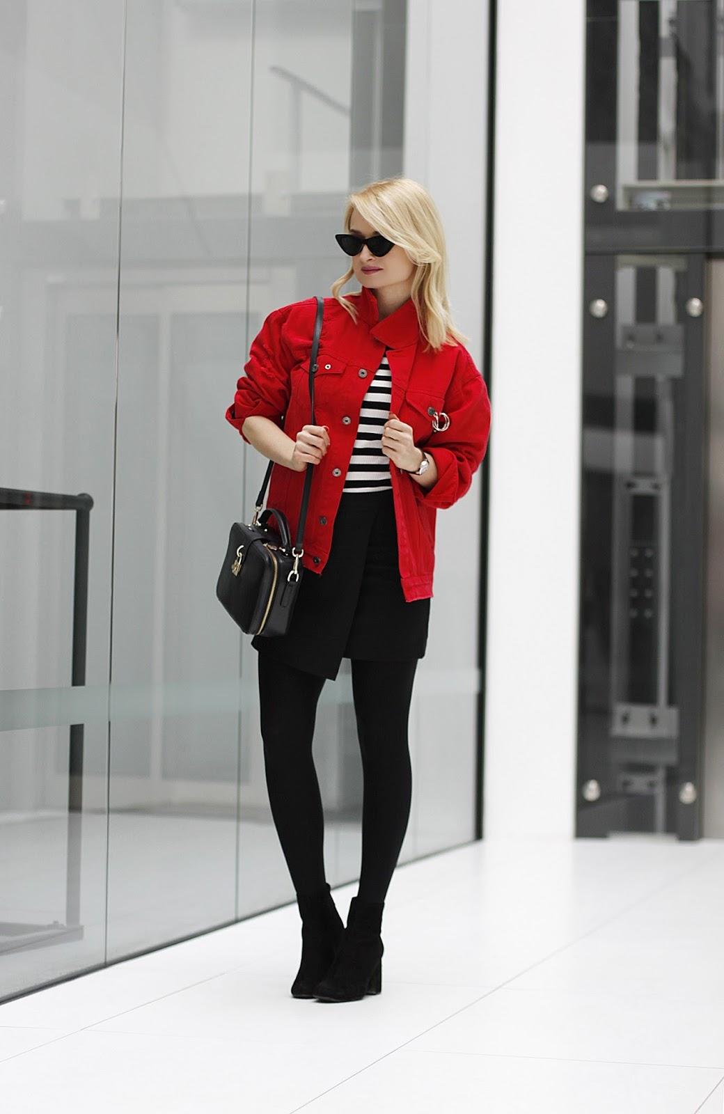 Czerwony Jeans