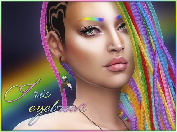 Rainbow Iris Eyebrows