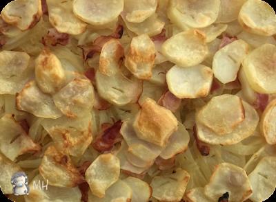 Patatas panadera con bacón