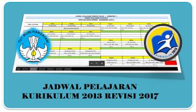 Aplikasi Jadwal Pelajaran Kurikulum 2013 Revisi 2017