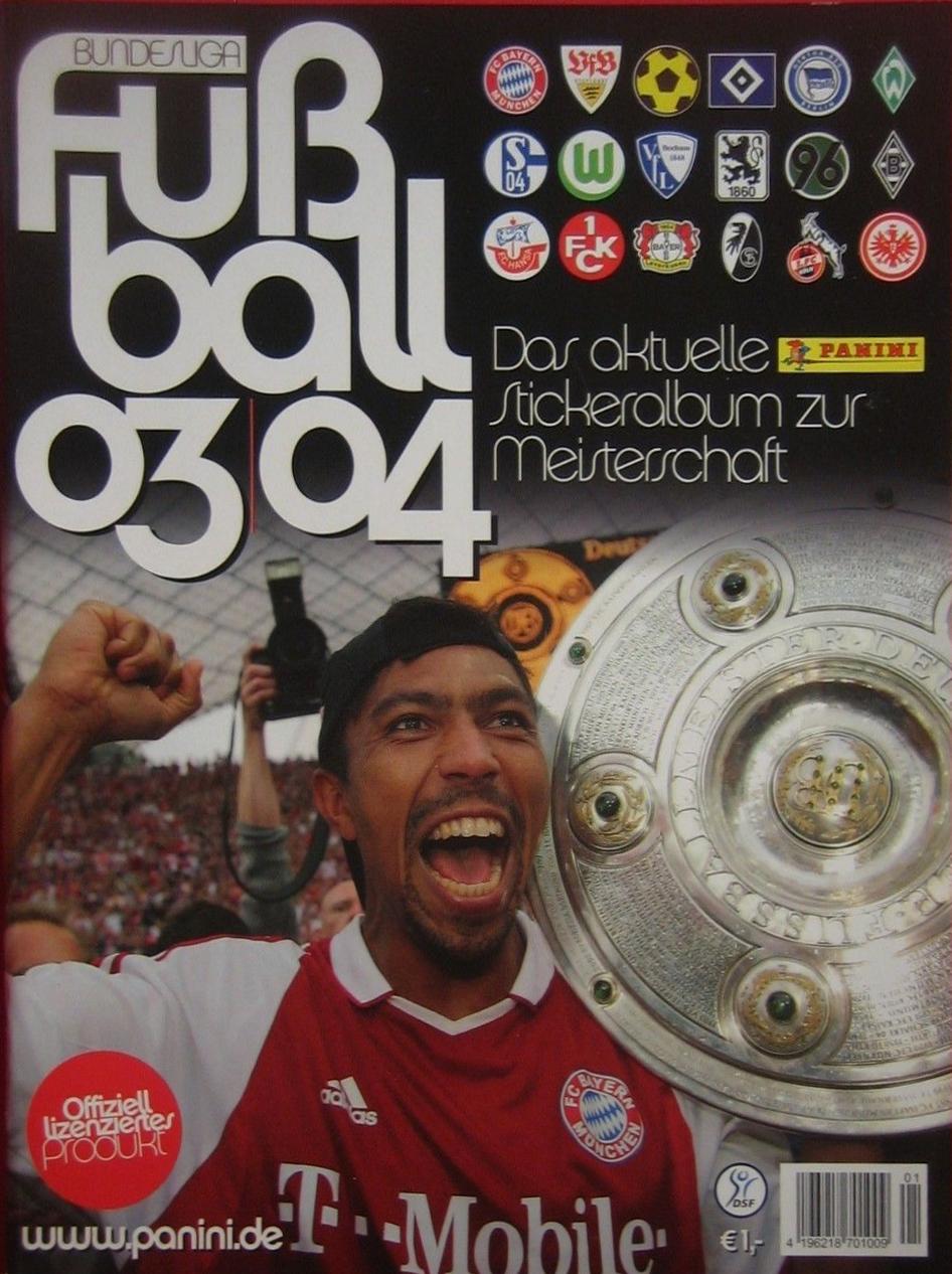 243 Panini Liga de Campeones 2001-2002 Alexander Zickler Bayern Munich no