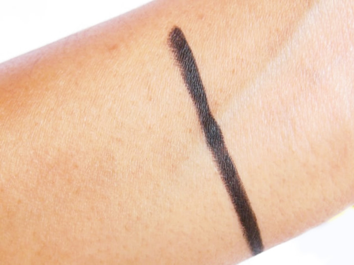 Maybelline colossal black shade swatch