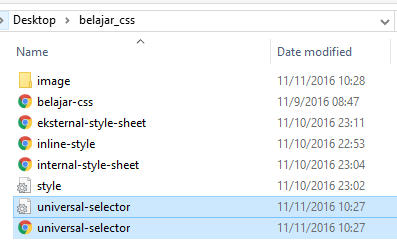 jenis Selector yang Ada di CSS