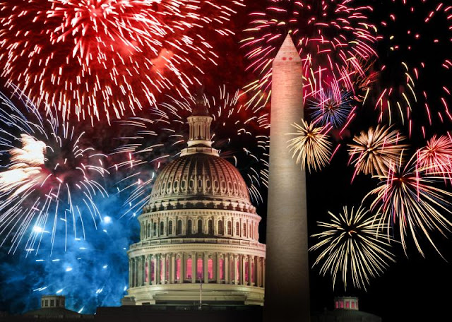 4th July 2017 Fireworks Pictures Images Greetings Cliparts  | Independence Day USA 2016