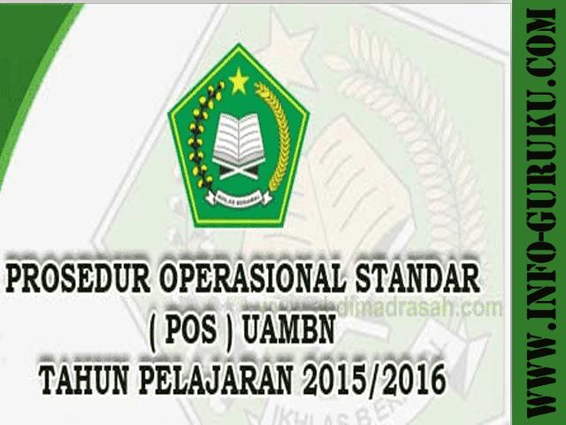 Info Guru Download Kisi-Kisi Soal Ujian Akhir Madrasah dan POS UAMBN Tahun Pelajaran 2015/2016
