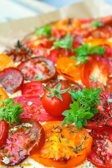 Tomatenpizza ohne Käse
