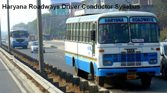 Haryana Roadways Driver Conductor Syllabus