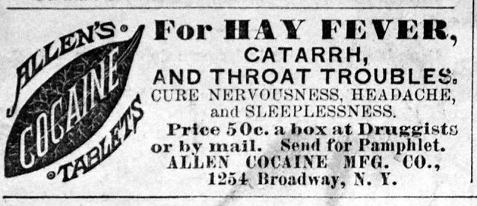 Allen's cocaine tablets.
