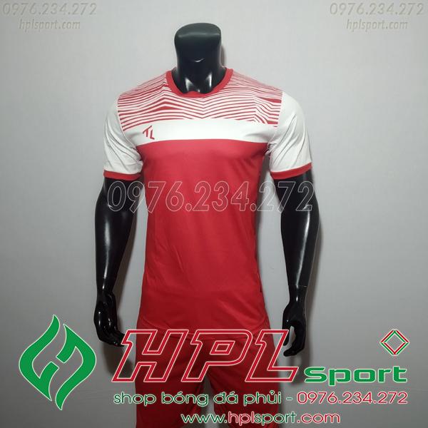 Áo bóng đá không logo TL HML Riyad màu đỏ