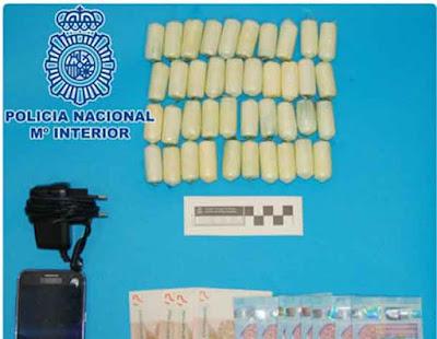 Detenido con 40 cápsulas de cocaína en su organismo, Fuerteventura