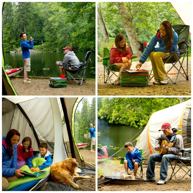 faux camping for a kelty photography shoot
