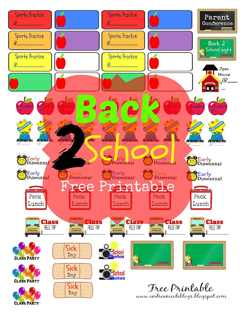 Free Back to School Planner Stickers and Printables | Plan To Love