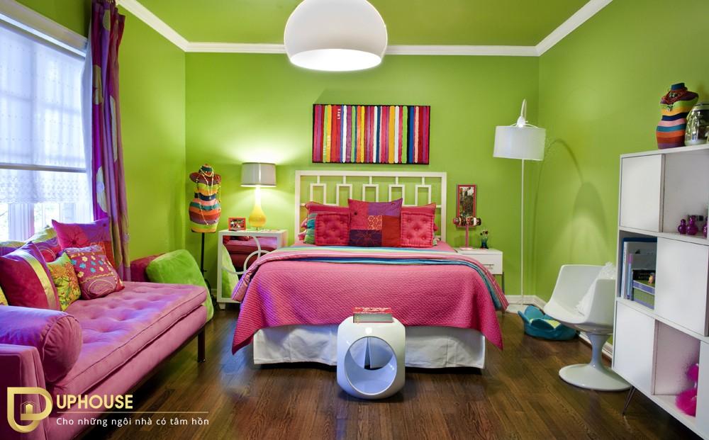 Màu sơn phòng ngủ mệnh Hỏa 11