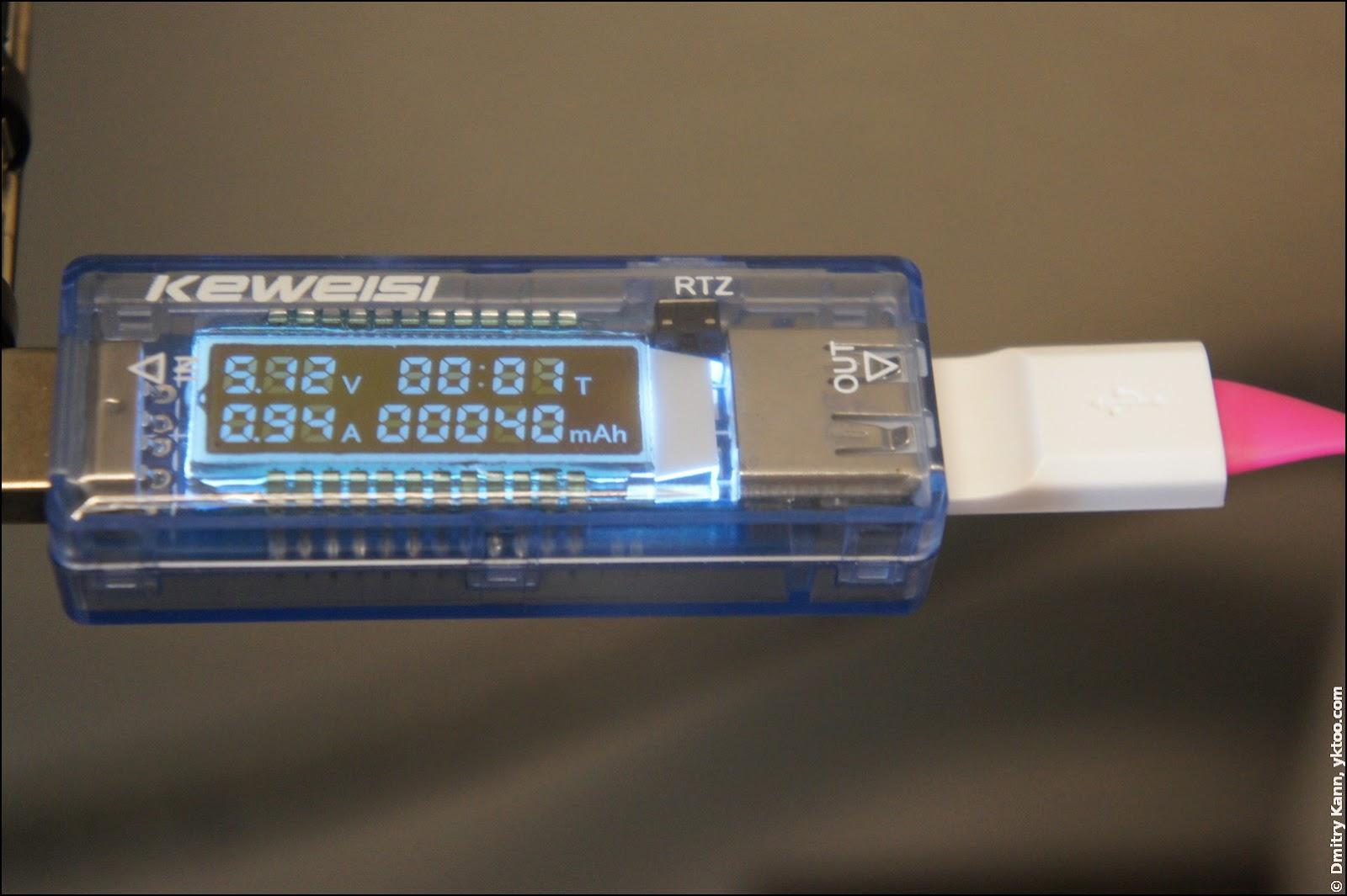USB hub, current 0.94 A.