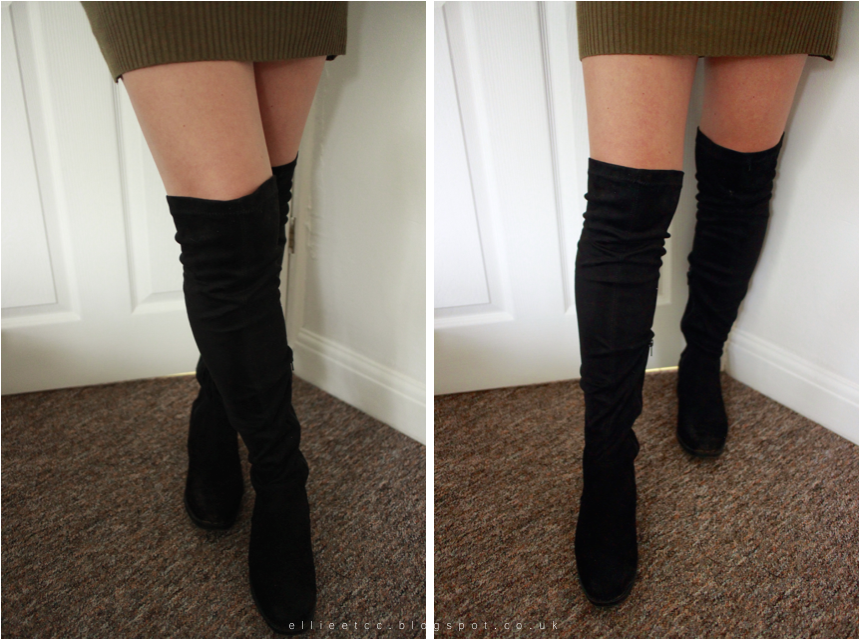 Boots, fashion, over the knee, over the knee boots, Primark, Public Desire, Rose Garden Waterfall, shoes, style,