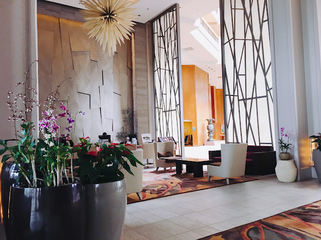 the lobby of the Hyatt Regency in Maui