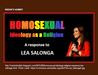 Homosexual Ideology as a Religion: a Response to Lea Salonga