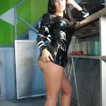 Andrea Rincon, Selena Spice Galeria 5 : Vestido De Latex Negro Foto 120