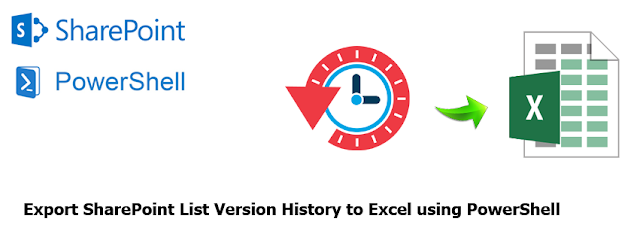 export sharepoint list version history to excel using powershell