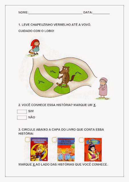 Atividades de Letramento para Imprimir  Atividades de Letramento para Imprimir.
