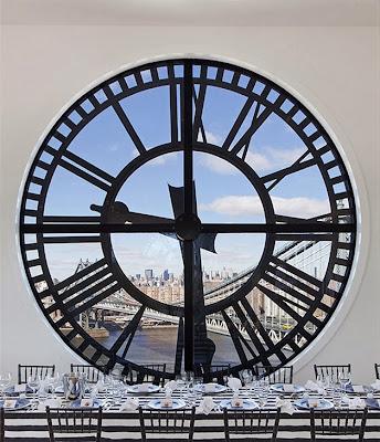 vista da janela relógio