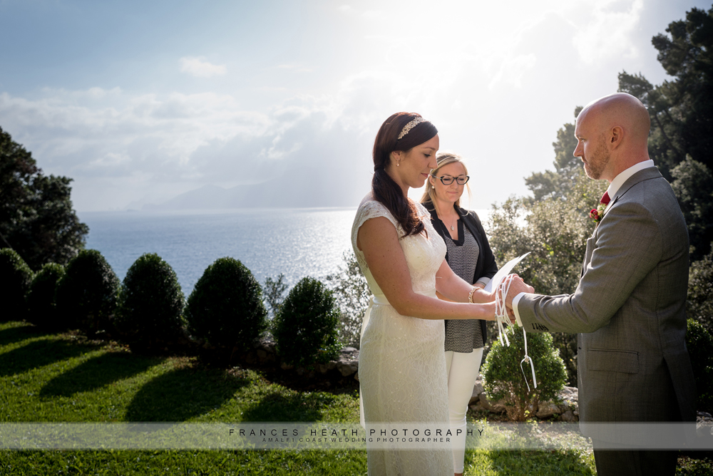 Hand binding ceremony Amalfi coast