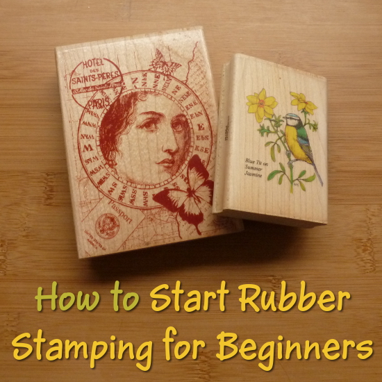 Begin rubber stamp paper card making craft
