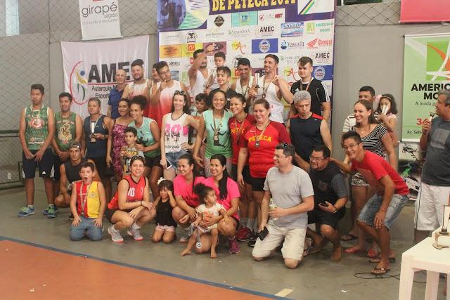 Concluída a 3ª etapa do campeonato rondoniense de peteca em Cacoal