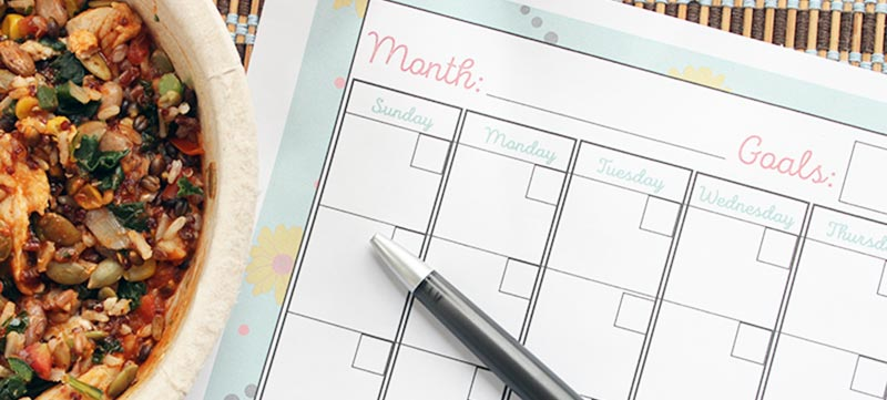 5 Easy Ways to Make a Healthy Choice Every Day | Free Printable Goals Calendar