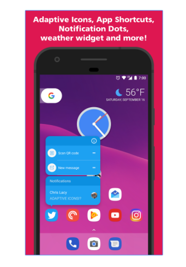 See Adaptive Zoom Feature In Action Launcher and More