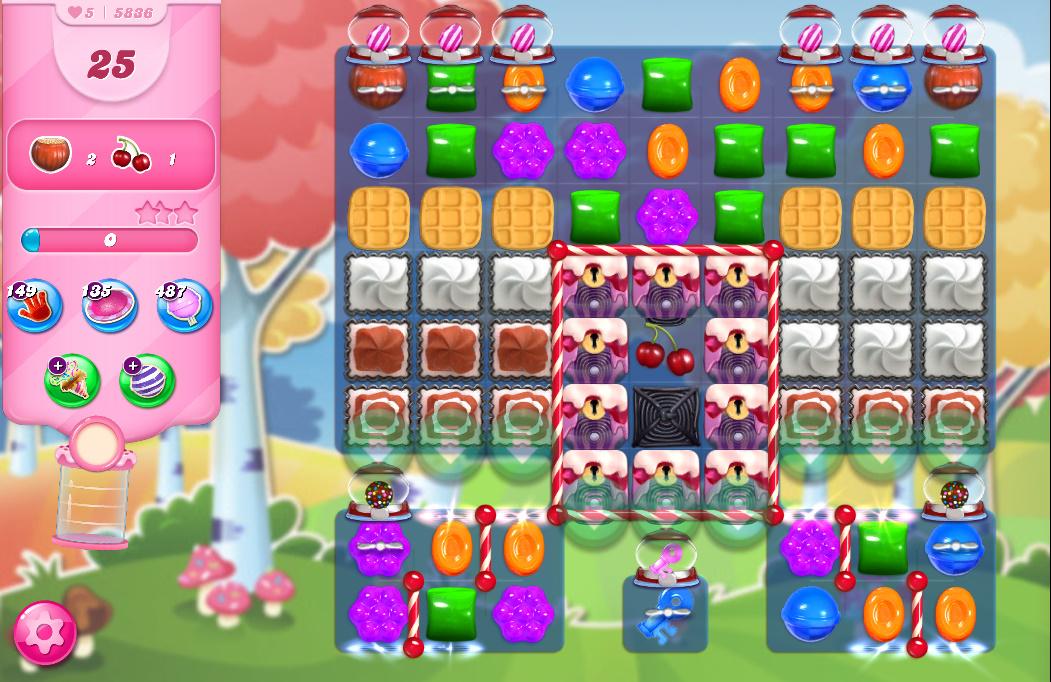 Candy Crush Saga level 5836
