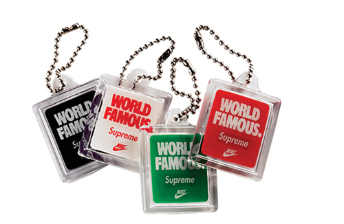new arrival c47e0 ba9fc Nike and Supreme partnered up for a trainer series and designed these  special edition swing tags made from plastic casing and metal bead tag.